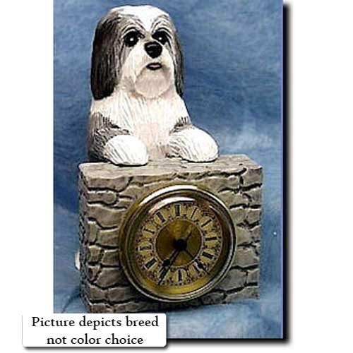 Michael Park BLACK and WHITE Havanese Mantle Clock